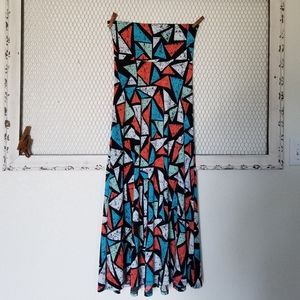 LuLaRoe Maxi Triangle Print Women Skirt